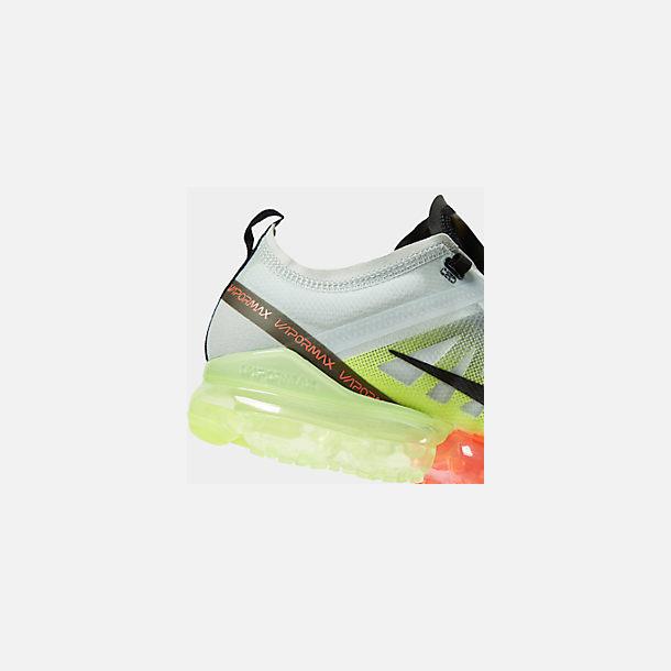 c45c3d7802b Front view of Men s Nike Air VaporMax 2019 Running Shoes in Pure  Platinum Black Volt