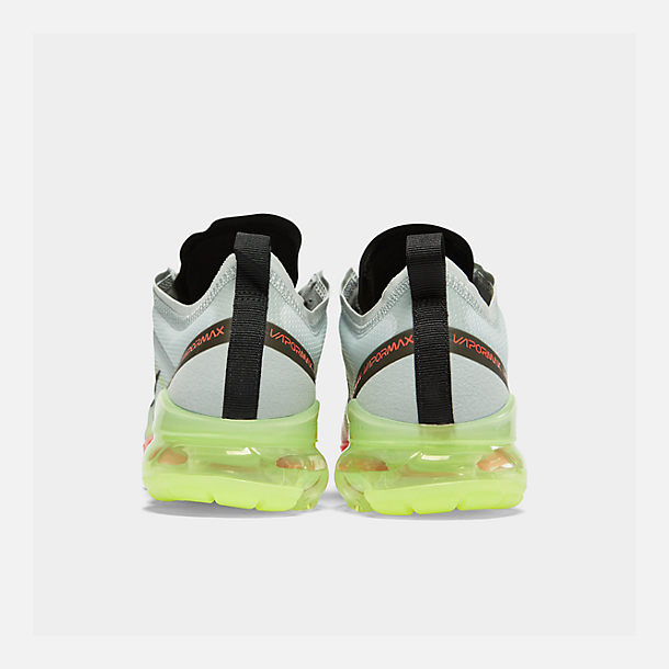 363b15702e8 Left view of Men s Nike Air VaporMax 2019 Running Shoes in Pure Platinum Black  Volt