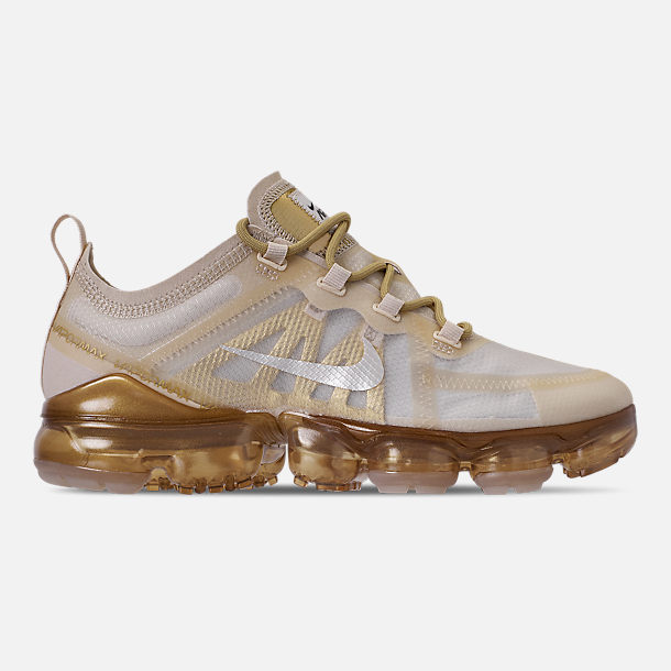 Right view of Women's Nike Air VaporMax 2019 Running Shoes in Cream/Sail/Light Bone