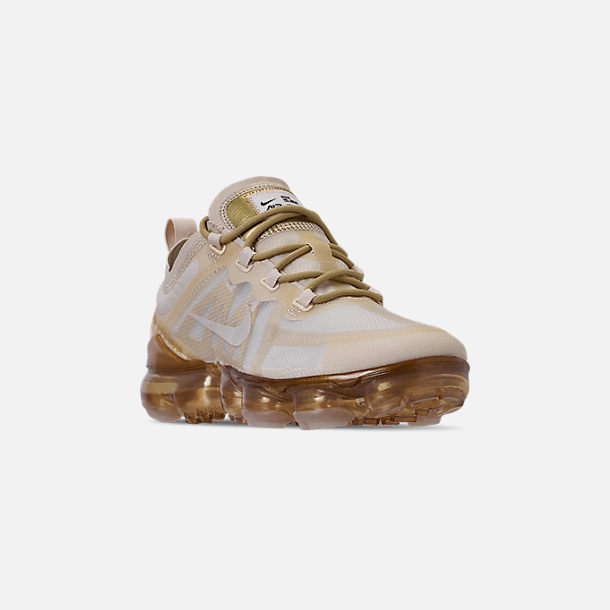 968f68862e Three Quarter view of Women's Nike Air VaporMax 2019 Running Shoes in  Cream/Sail/
