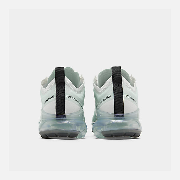 Left view of Women's Nike Air VaporMax 2019 Running Shoes in Ghost Aqua/Summit White/Black/Metal