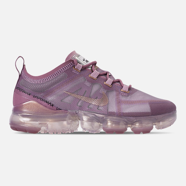 Right view of Women's Nike Air VaporMax 2019 Running Shoes in Plum Chalk/Metallic Red Bronze/Plum Dust
