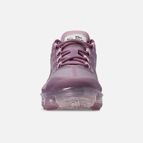 Front view of Women's Nike Air VaporMax 2019 Running Shoes in Plum Chalk/Metallic Red Bronze/Plum Dust