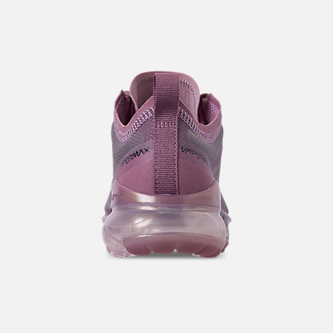 Back view of Women's Nike Air VaporMax 2019 Running Shoes in Plum Chalk/Metallic Red Bronze/Plum Dust