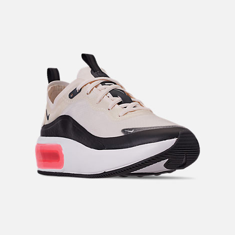 Three Quarter view of Women's Nike Air Max DIA Special Edition Casual Shoes in Pale Ivory/Black/Summit White