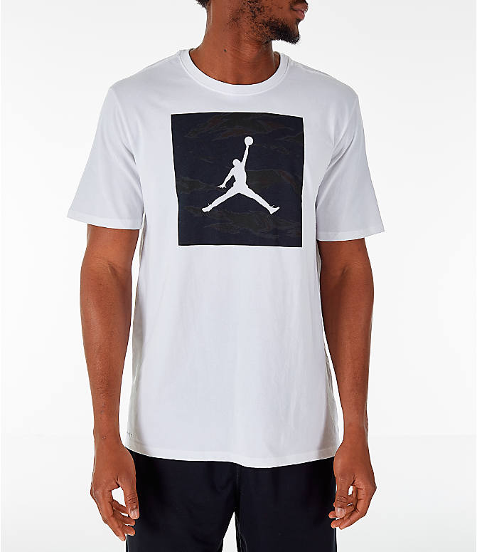 Front view of Men's Air Jordan 23/7 Training T-Shirt in White
