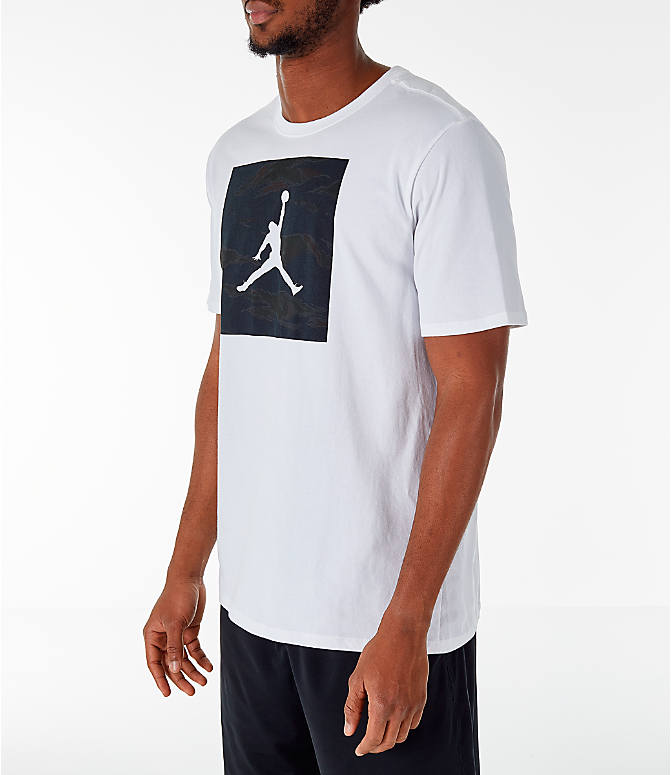Front Three Quarter view of Men's Air Jordan 23/7 Training T-Shirt in White