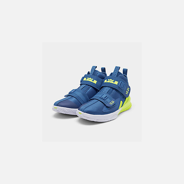 new product 7d9e8 f283b Three Quarter view of Boys  Big Kids  Nike LeBron Soldier 13 Basketball  Shoes in