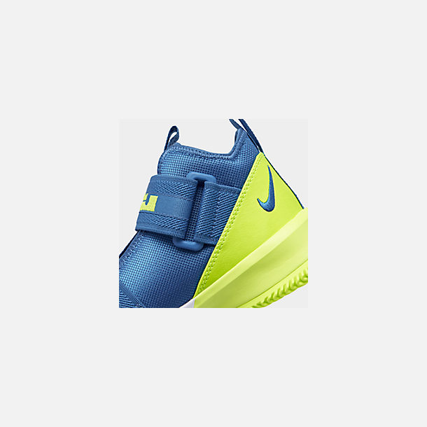 6c0aa1e562064 Front view of Boys' Big Kids' Nike LeBron Soldier 13 Basketball Shoes in  Game