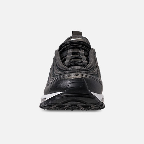 Front view of Women's Nike Air Max 97 Lux Casual Shoes in Black/Black/White
