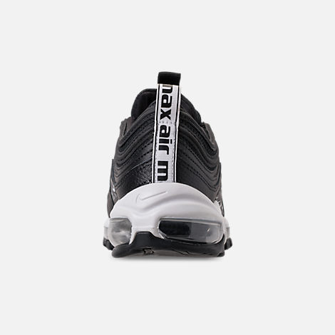 Back view of Women's Nike Air Max 97 Lux Casual Shoes in Black/Black/White