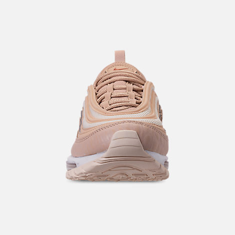 Front view of Women's Nike Air Max 97 Lux Casual Shoes in Bio Beige/Light Carbon
