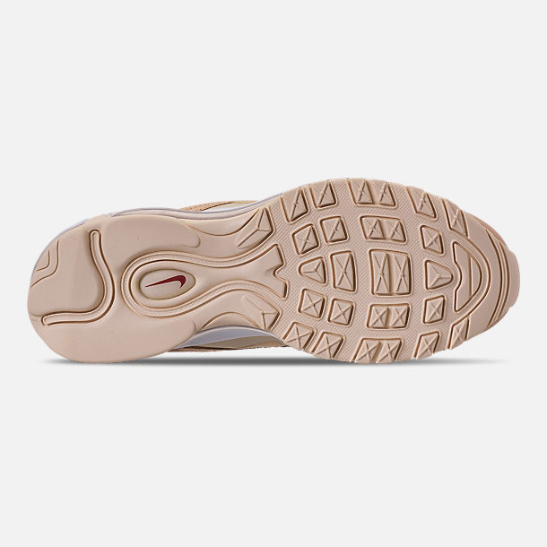 Bottom view of Women's Nike Air Max 97 Lux Casual Shoes in Bio Beige/Light Carbon