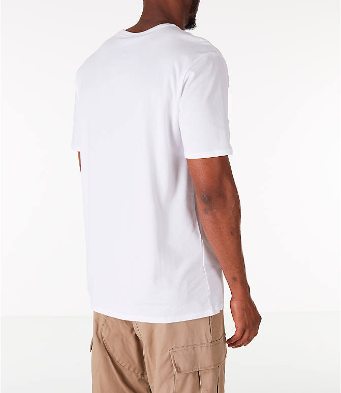 Back Right view of Men's Air Jordan 10 Graphic T-Shirt in White