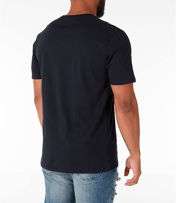 Back Right view of Men's Air Jordan 13 Melo T-Shirt in Black