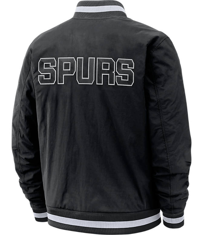 Back view of Men's Nike San Antonio Spurs NBA Courtside Jacket in Black