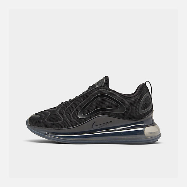 Right view of Women's Nike Air Max 720 Running Shoes in Black/Black/Black