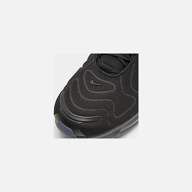 Front view of Women's Nike Air Max 720 Running Shoes in Black/Black/Black