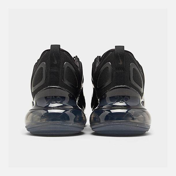Left view of Women's Nike Air Max 720 Running Shoes in Black/Black/Black