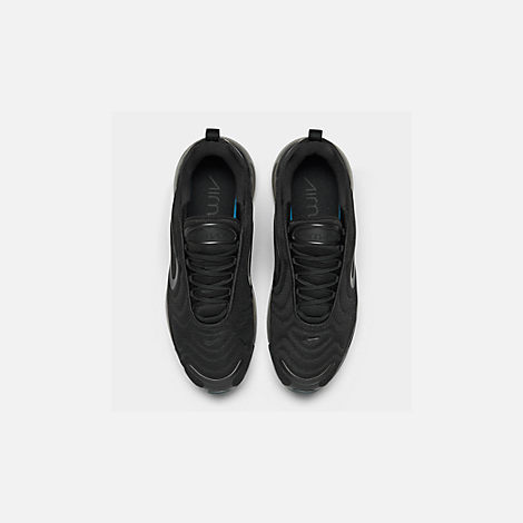 Back view of Women's Nike Air Max 720 Running Shoes in Black/Black/Black