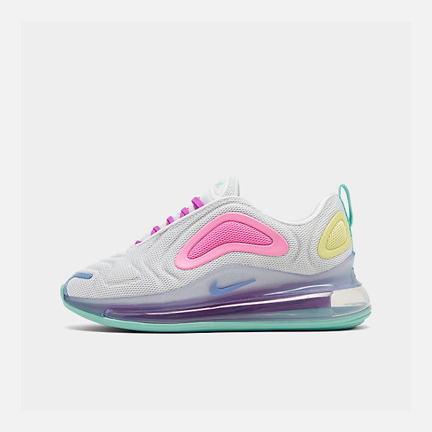 Right view of Women's Nike Air Max 720 Running Shoes in White/Light Aqua/Chalk Blue/Psychic Pink