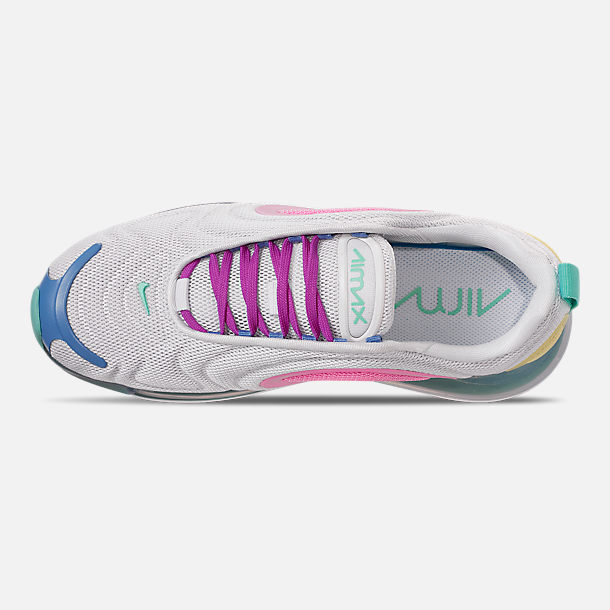 Top view of Women's Nike Air Max 720 Running Shoes in White/Light Aqua/Chalk Blue/Psychic Pink