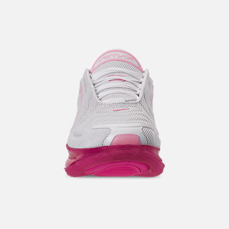 Front view of Women's Nike Air Max 720 Running Shoes in White/Pink Rise/Laser Fuchsia