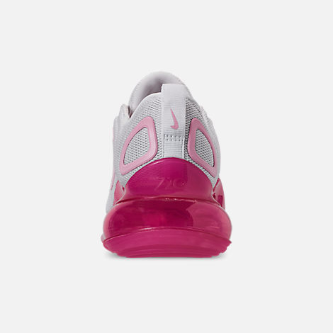 Back view of Women's Nike Air Max 720 Running Shoes in White/Pink Rise/Laser Fuchsia