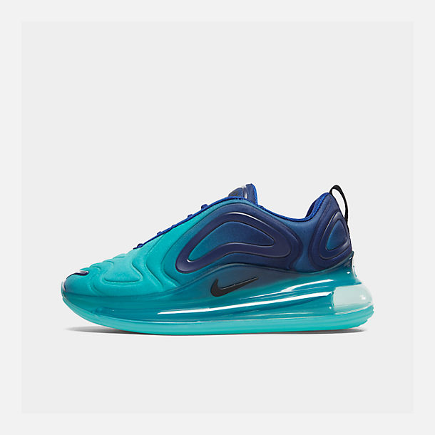 61143b91fcebe3 Right view of Women s Nike Air Max 720 Running Shoes in Deep Royal Blue  Hyper