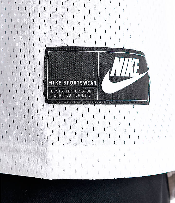 Detail 2 view of Men's Nike Sportswear Statement Mesh Jersey Tank in White