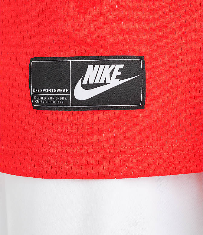 a691883f Detail 2 view of Men's Nike Sportswear Statement Mesh Jersey Tank in  University Red