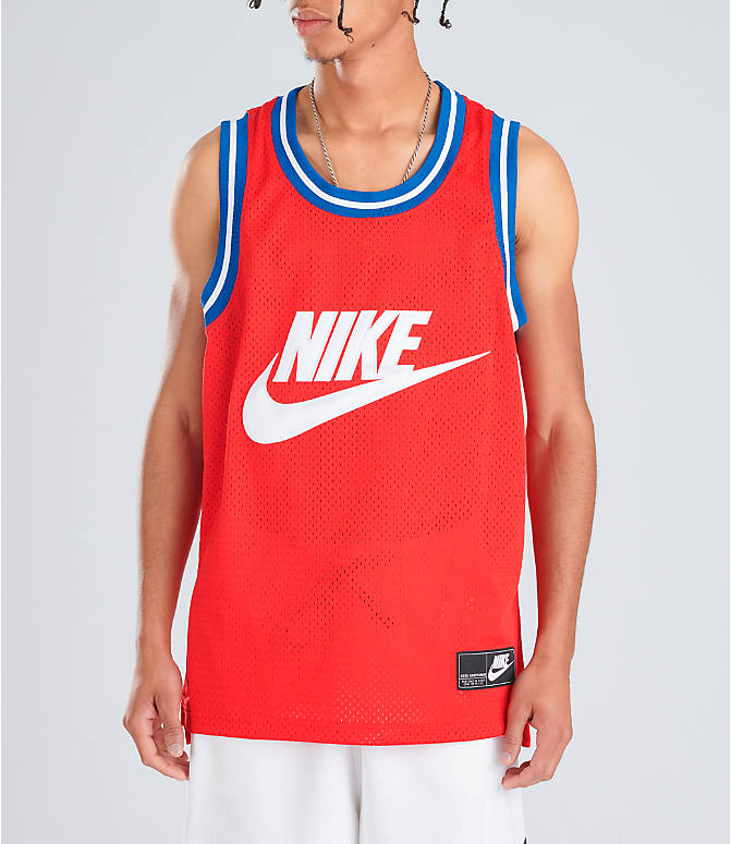 a449a532 Front view of Men's Nike Sportswear Statement Mesh Jersey Tank in  University Red