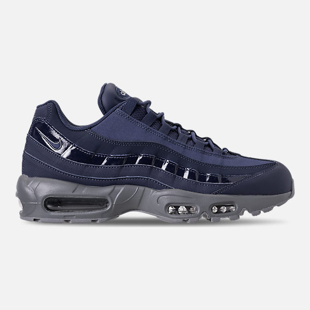 Right view of Men's Nike Air Max 95 RM Running Shoes in Obsidian/Cobalt