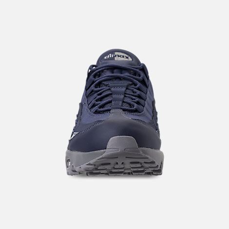 Front view of Men's Nike Air Max 95 RM Running Shoes in Obsidian/Cobalt