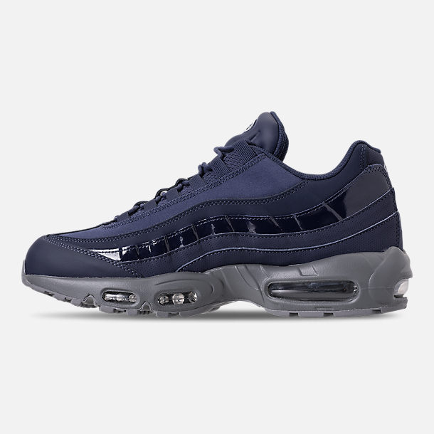 Left view of Men's Nike Air Max 95 RM Running Shoes in Obsidian/Cobalt
