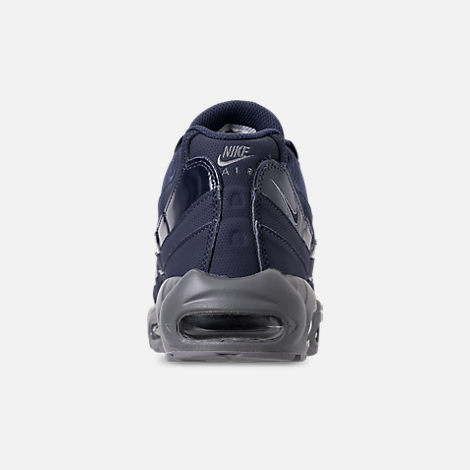 Back view of Men's Nike Air Max 95 RM Running Shoes in Obsidian/Cobalt