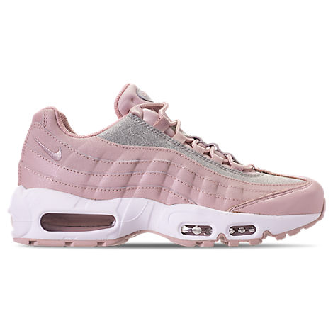 Air Max 95 Glittered Leather And Suede Sneakers, Pink