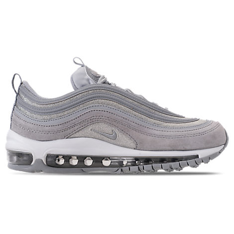 Air Max 97 Glittered Leather And Suede Sneakers in Silver