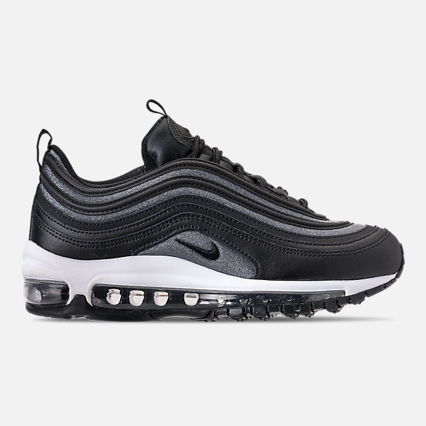 Right view of Women's Nike Air Max 97 SE Casual Shoes in Black/Dark Grey/White