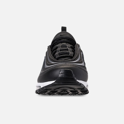 Front view of Women's Nike Air Max 97 SE Casual Shoes in Black/Dark Grey/White