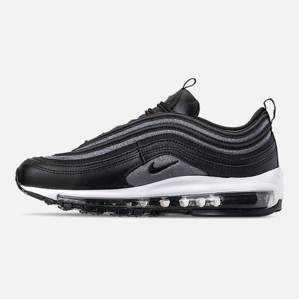 Left view of Women's Nike Air Max 97 SE Casual Shoes in Black/Dark Grey/White