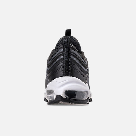 Back view of Women's Nike Air Max 97 SE Casual Shoes in Black/Dark Grey/White