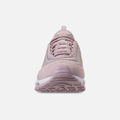 Front view of Women's Nike Air Max 97 SE Casual Shoes in Rust Pink/Particle Rose/White