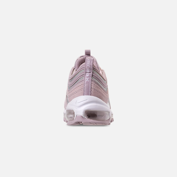 Back view of Women's Nike Air Max 97 SE Casual Shoes in Rust Pink/Particle Rose/White