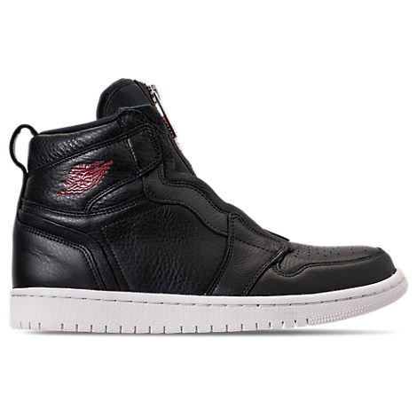 WOMEN'S AIR JORDAN 1 HIGH ZIP CASUAL SHOES, BLACK