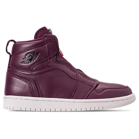 WOMEN'S AIR JORDAN 1 HIGH ZIP CASUAL SHOES, PURPLE