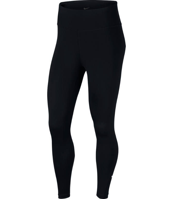 Front view of Women's Nike One 7/8 Tights in Black/White