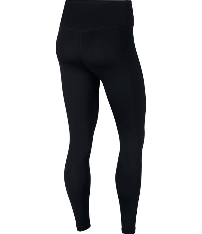 Back view of Women's Nike One 7/8 Tights in Black/White