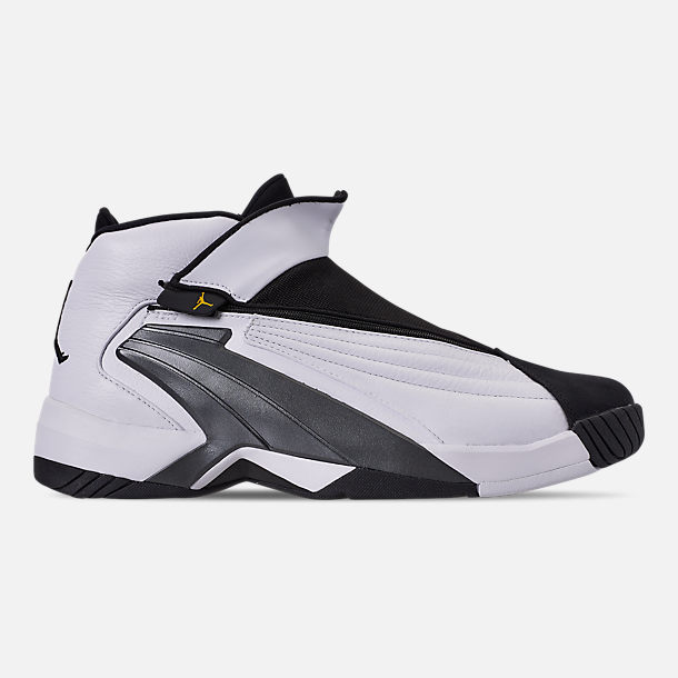 Right view of Men's Jordan Jumpman Swift 23 Basketball Shoes in White/Tour Yellow/Black