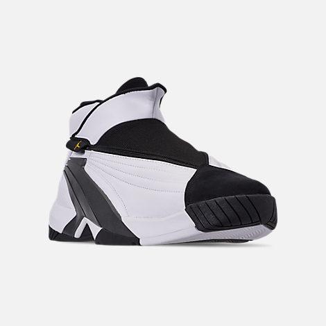 size 40 68a11 1e2ae Three Quarter view of Men s Jordan Jumpman Swift 23 Basketball Shoes in  White Tour Yellow